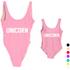 Custom Printing Parent-child Bikini Swimwear Beachwear One Piece Swimsuit in Mother&Daughter matching