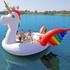 High quality 6-person big Inflatable flamingo/unicorn pool float