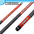CUESOUL Best Selling Maple Shaft 1/2 Jointed Quick Release Pool Cues with Decal