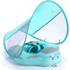 Mambobaby solid non-inflatable baby pool float with canopy no not inflatable swimming ring swim trainer infant mambo flo