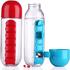 PC Shaker Bottle with Pill Box Pill Organizer Water Bottle
