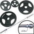 Ironman 110kg Olympic Tri-grip Hammerton Weight Set with 2.2m Olympic Weight Bar