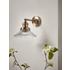Antique Fluted Glass Wall Light - Brass