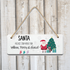 Santa Stop Here! Personalised Christmas Plaque Sign