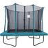 Velocity 6x9ft Green Powder Coated Rectangular Trampoline With Safety Enclosure