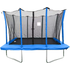 Velocity 7x10ft Blue Rectangular Trampoline With Safety Enclosure