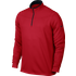 Nike Dri-Fit Half Zip LS Top - Red X Large