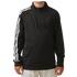 Adidas Boys 3 Stripe 1/2 zip Jacket - Black