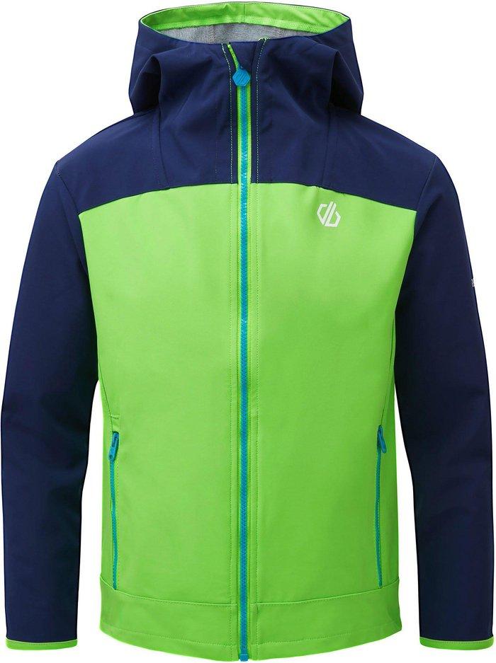 Dare 2B Kids' Gifted Softshell Jacket, LIGHT GREEN/SOFTSHELL