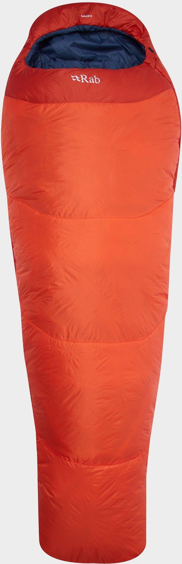 Rab Solar 4 XL Sleeping Bag, Orange/ORG