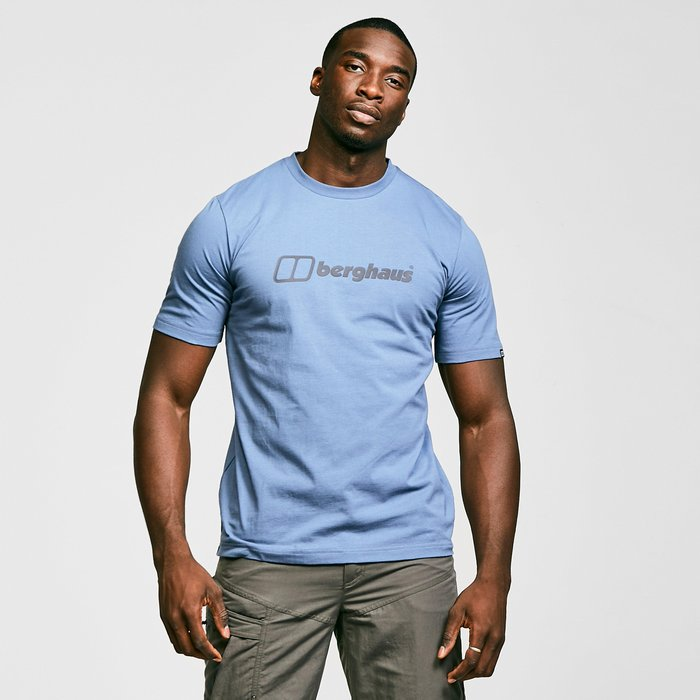 Berghaus Men's Colour Logo T-Shirt, Blue/Blue