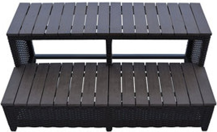 Canadian Spa Canadian Spa Brown Rattan Straight step