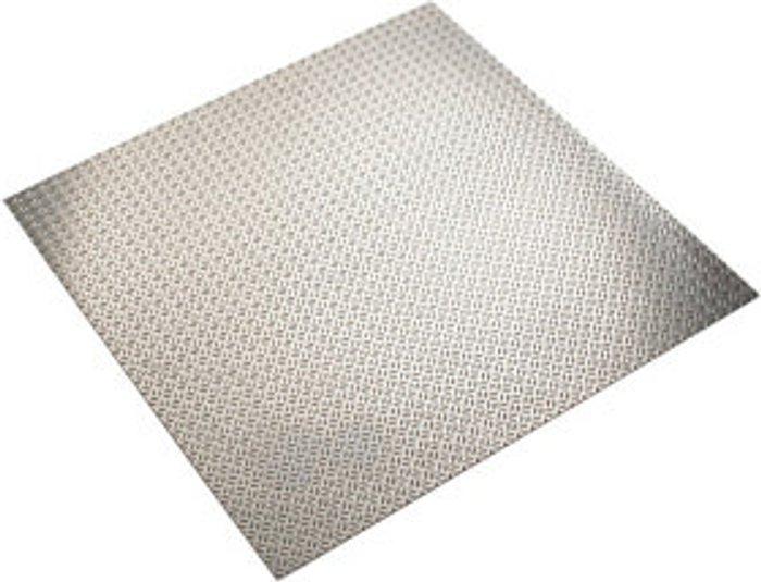 FFA Concept FFA Concept Silver effect Aluminium Embossed Sheet  (H)500mm (W)500mm (T)1mm