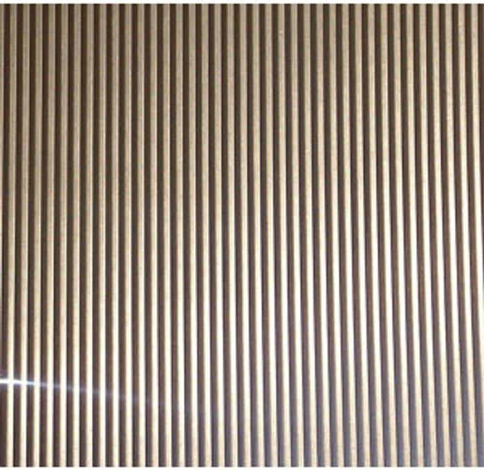 FFA Concept FFA Concept Silver effect Anodised Aluminium Corrugated Sheet  (H)500mm (W)250mm (T)1mm