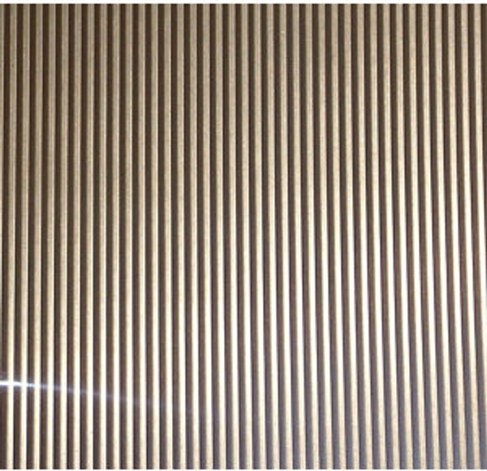 FFA Concept FFA Concept Silver effect Anodised Aluminium Corrugated Sheet  (H)1000mm (W)500mm (T)1mm