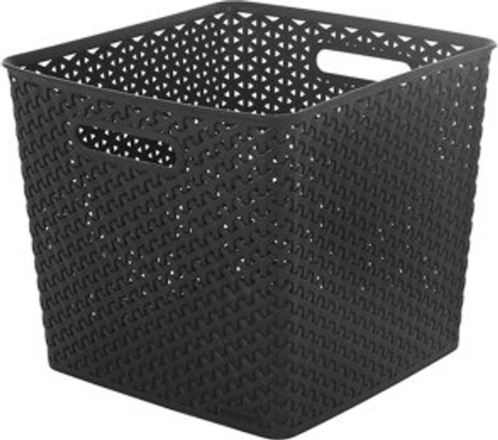 Curver My style Weave Brown rattan effect 25L Plastic Storage basket (W)316mm