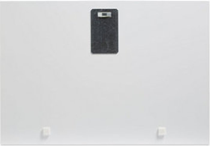 Sunset jetty Blue Unframed print (H)450mm (W)650mm
