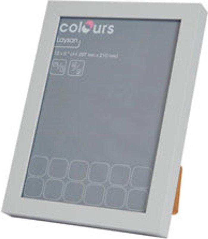 Colours Grey Modern block Picture frame (H)34cm x (W)25cm