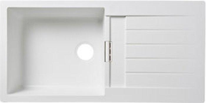 Cooke & Lewis Cooke & Lewis Galvani White Composite quartz 1 Bowl Sink & drainer