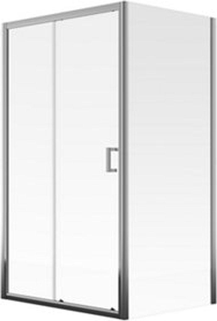 Aqualux Aqualux Edge 8 Clear glass 1 panel Sliding Shower Door (W)1200mm