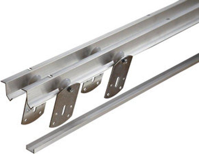 Slik Silver Sliding wardrobe door track set (L)1828mm