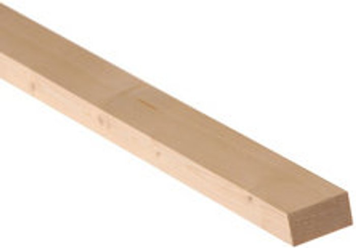 Metsä Wood Smooth Planed Square edge Spruce Timber (L)2.4m (W)34mm (T)18mm  Pack of 16