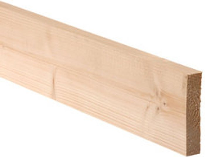 Metsä Wood Smooth Planed Square edge Spruce Timber (L)2.1m (W)131mm (T)28mm  Pack of 6