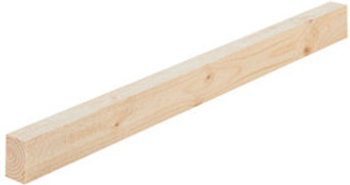 Rough sawn Whitewood spruce Timber (L)2.4m (W)38mm (T)15mm  Pack of 8