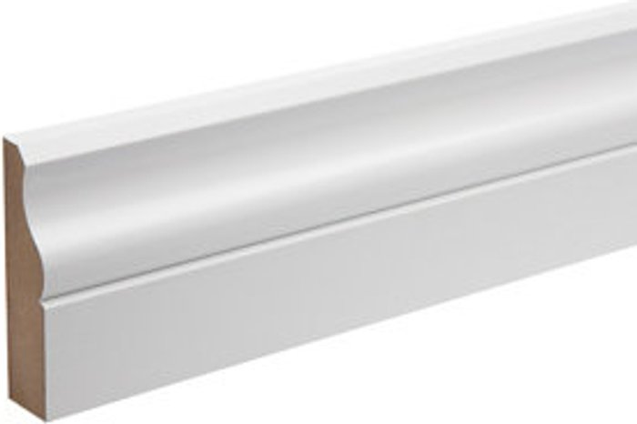White MDF Ogee Architrave (L)2.18m (W)69mm (T)18mm  Pack of 5