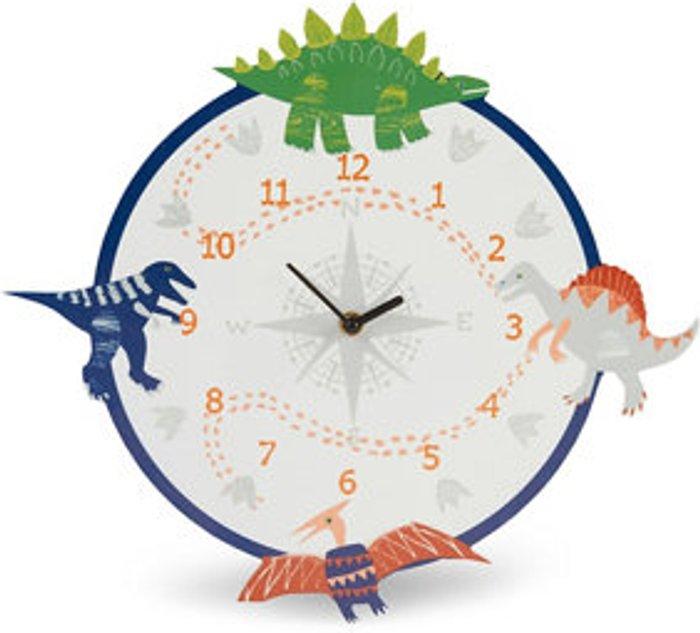 Dino doodles Children Dinosaur Multicolour Quartz Clock