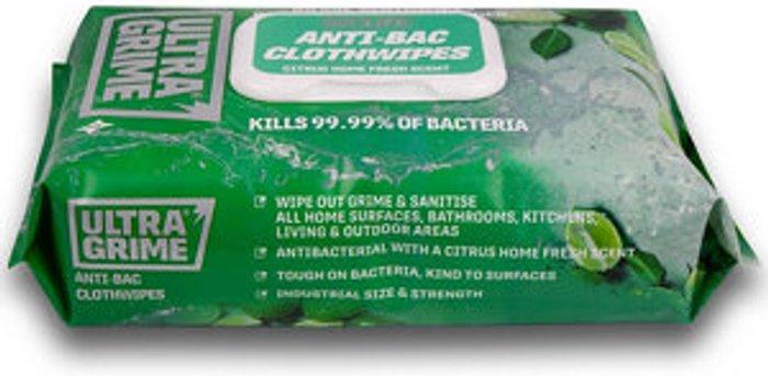 Ultragrime Ultragrime Life Citrus Antibacterial wipes  Pack of 1