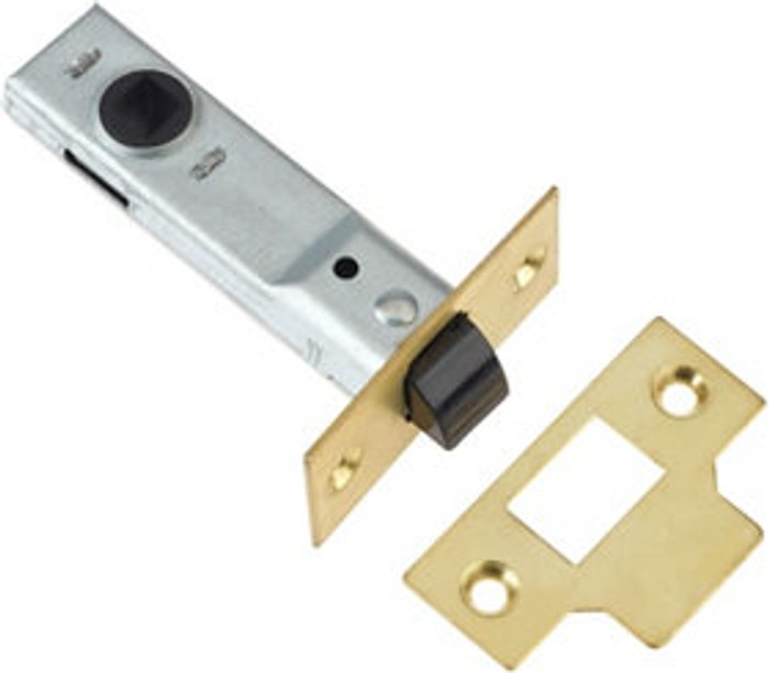 Diall Diall Polished Brass Tubular Mortice latch (L)170mm