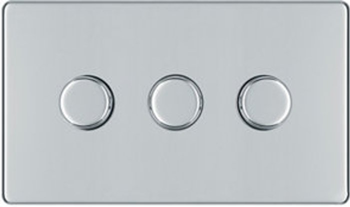 Colours Colours 2 way Triple Chrome effect Dimmer switch