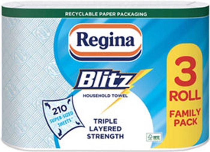 Regina Regina Blitz Blue & white Paper roll  Pack of 3