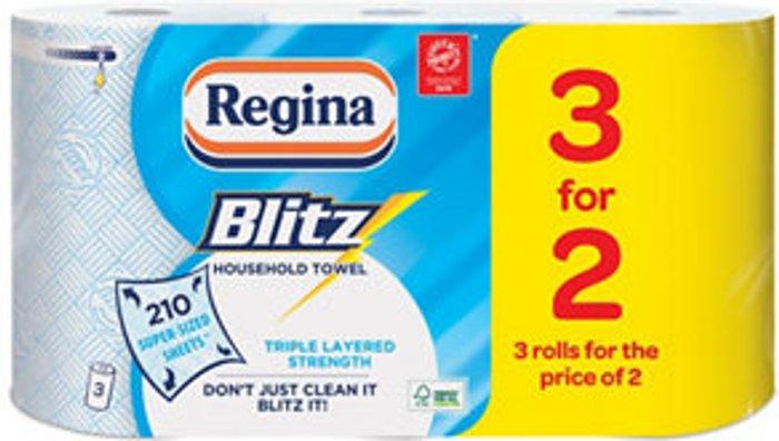 Regina Regina Blitz White Paper towels  Pack of 3