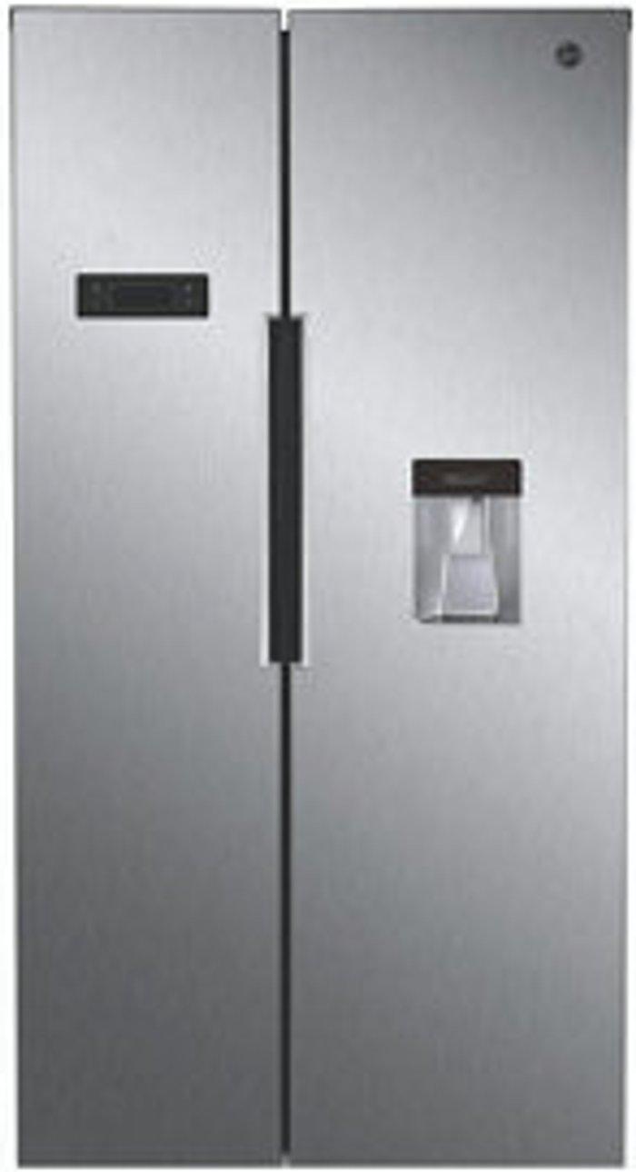 Hoover Hoover HHSBSO 6174XWDK American style Stainless steel Freestanding Fridge freezer