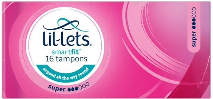 Lil-Lets Lil-Lets Smartfit Non-Applicator Tampons Super 16 Pack