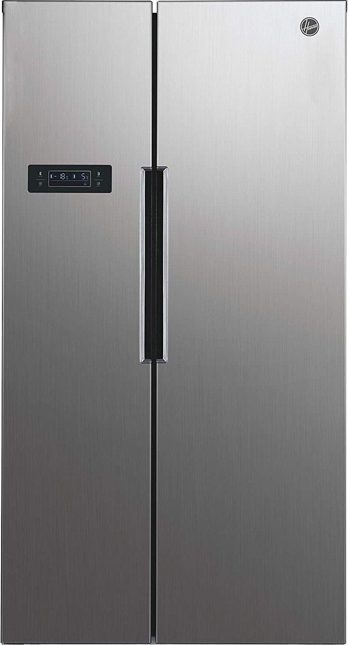 Hoover Hoover HHSBSO 6174XK American style Stainless steel Freestanding Fridge freezer