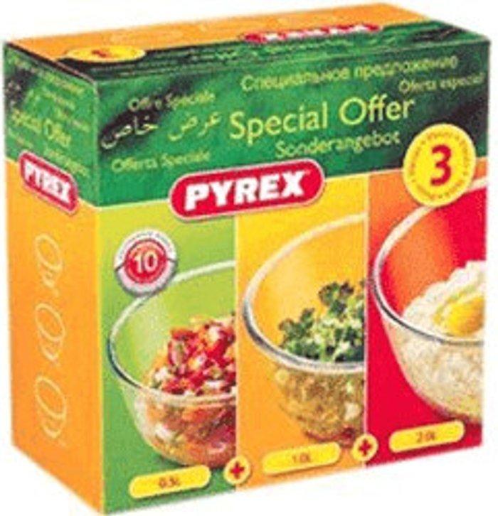 Pyrex Pyrex 3 Piece Bowl Set 0,5l, 1l, 2l