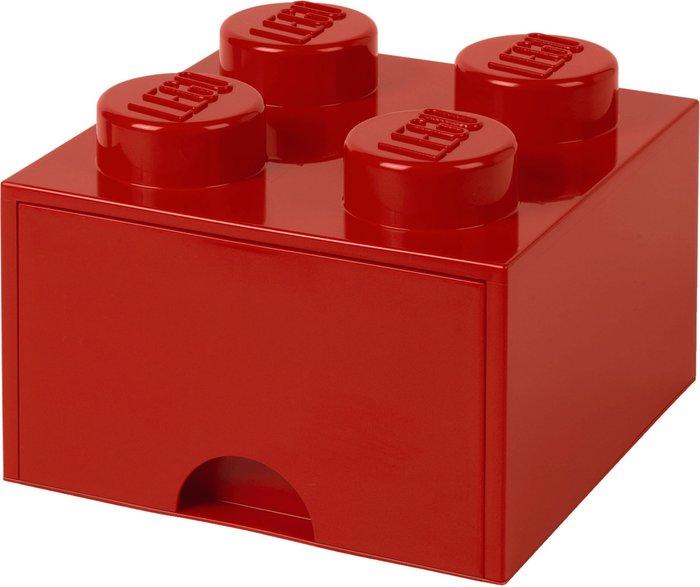 Lego LEGO Storage Brick Drawer 4 Studs - Red