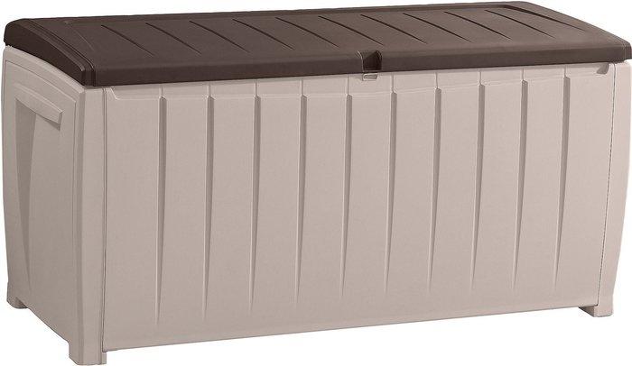 Tepro Tepro Novel Garden Storage Chest (340L) - Beige/Brown