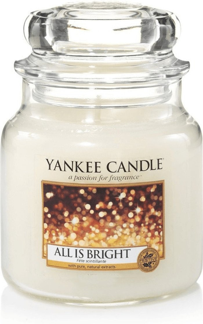 Yankee Candle Yankee Candle All is Bright Medium Jar Candle 411g