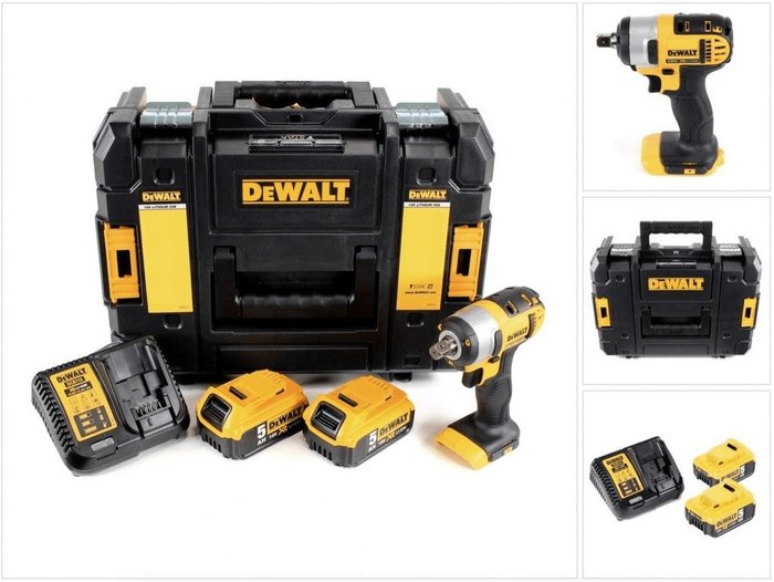 Dewalt DeWalt DCF880 (2 x 5,0 Ah + quick charger) in TStak Box