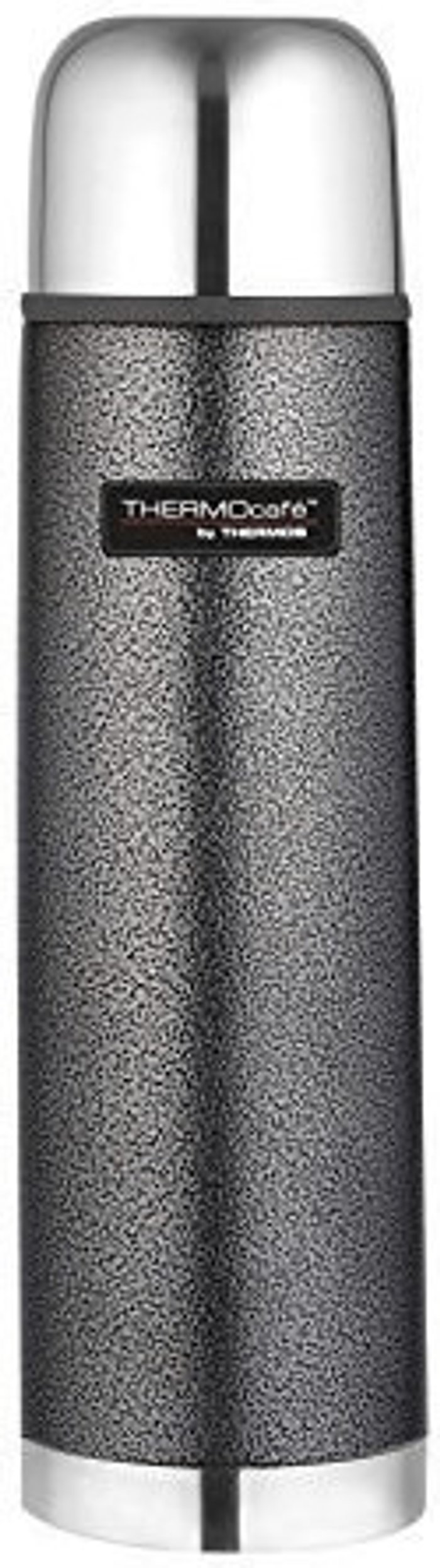Thermos Thermos ThermoCafe stainless steel bottle Hammertone gray 1,0 l