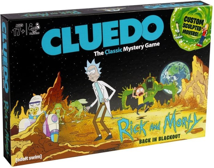 Asmodee Cluedo Mystery Board Game - Rick and Morty Edition
