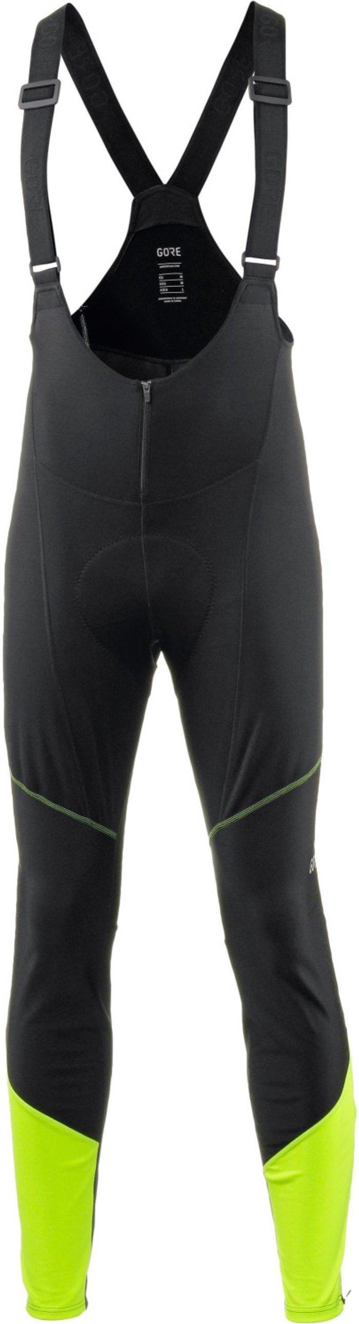 GORE Gore C3 Windstopper Thermo Bib Shorts Men black/neon yellow
