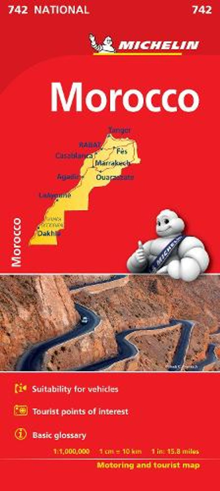 Morocco - Michelin National Map 742