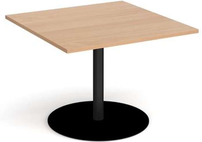 Eternal Eternal square extension table 1000mm x 1000mm - black base and beech top