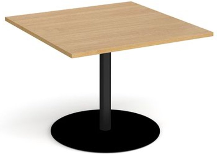 Eternal Eternal square extension table 1000mm x 1000mm - black base and oak top