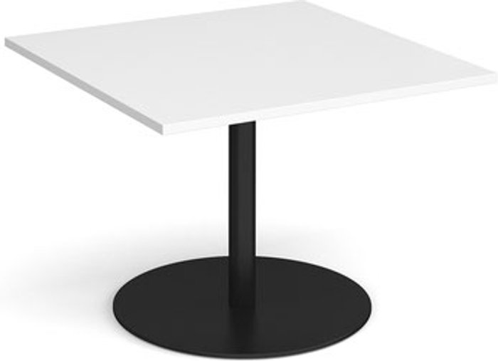 Eternal Eternal square extension table 1000mm x 1000mm - black base and white top